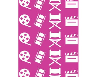 Filmmaker Fuchsia and White Wrapping Paper