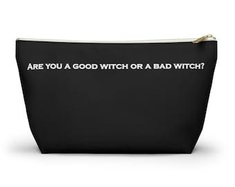 Good Witch - Black Accessory Pouch w T-bottom