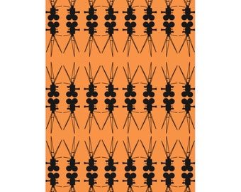 Vintage Film Camera Orange and Black Wrapping Paper