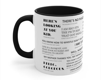 Movie Quotes Accent Coffee Mug, 11oz