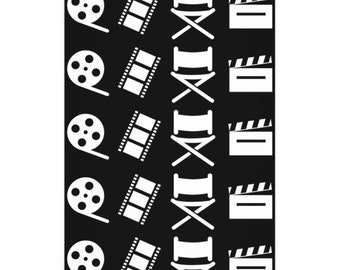 Filmmaker Black and White Wrapping Paper