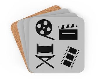 Filmmaker Gray Corkwood Coaster Set