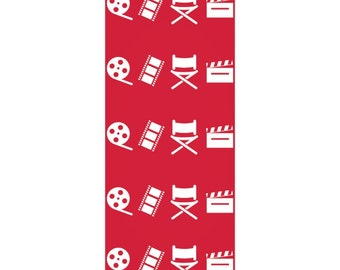 Filmmaker Red and White Wrapping Paper