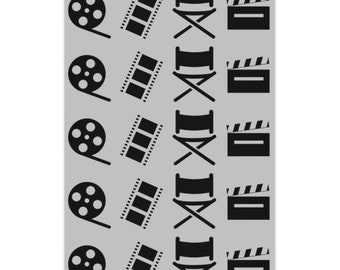 Filmmaker Gray and Black Wrapping Paper