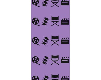 Filmmaker Violet and Black Wrapping Paper