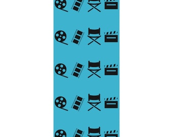 Filmmaker Teal and Black Wrapping Paper