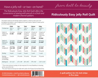 PRINT Ridiculously Easy Jelly Roll Quilt Pattern by Michelle Cain of From Bolt to Beauty