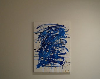 The Abstract blue Mess