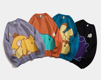 Pokemon Manga Anime Animal UNISEX Sweater Jumper