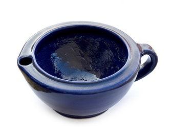 Extra Large Ceramic Shaving Mug Bowl Scuttle Handmade double bottom Ceramic