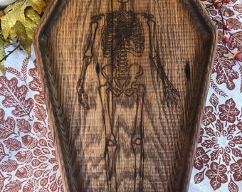 Skeleton Coffin Serving Tray/Appetizer Plate