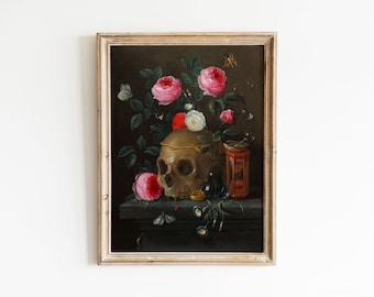 HALLOWEEN Vintage Spooky Painting Art Print 8x10 Macabre Haunted Victorian Goth