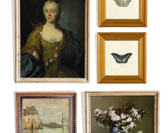 French country gallery wall print set vintage art
