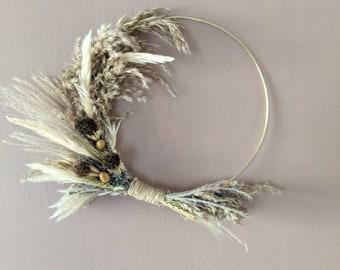 Natural wreath   Indoor wreath   Dried flower wreath   dried flower gift   pampas grass wreath   lavender wreath