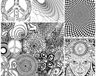 Psychedelic Coloring Book - 30 pages