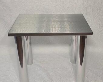 Aluminum End Table, Minimalistic Table, Metal Nightstand