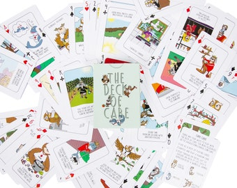 Self-Care Resource Cards - The Deck of Care: A Guide to Wellness in Standard Playing Cards
