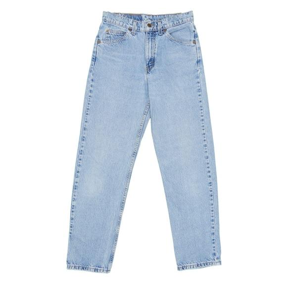 1990s Vintage Levis 550 Orange Tab Jeans 28x31 - image 2