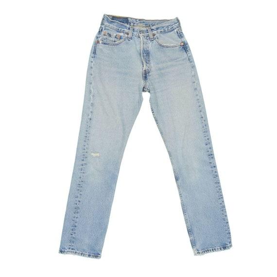1990s Vintage Levis 501 Distressed Jeans 25x29 - image 2