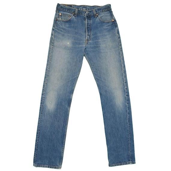 1990s Vintage Levis 501 Distressed Jeans 29x34