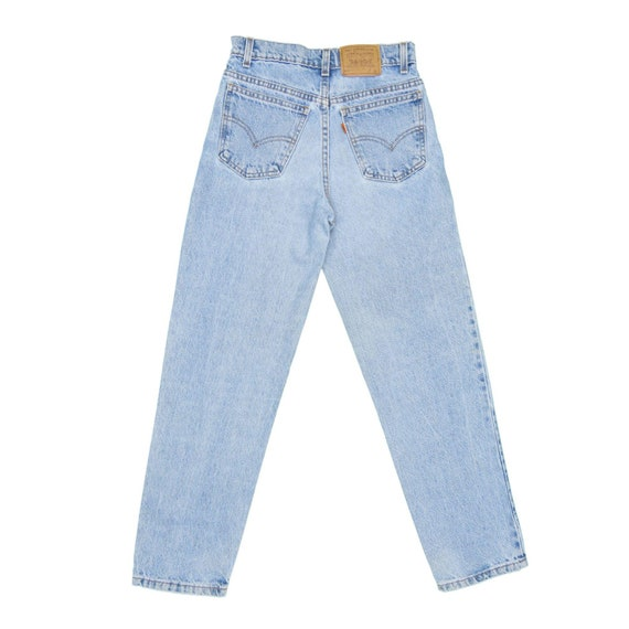 1990s Vintage Levis 550 Orange Tab Jeans 25x27.5 - image 2