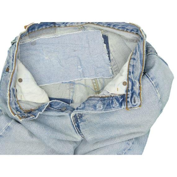 1990s Vintage Levis 501 Distressed Jeans 25x29 - image 4