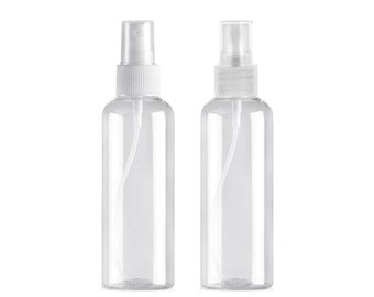 10pcs 100ml Clear PET Bottle Spray Empty Plastic Container Travel