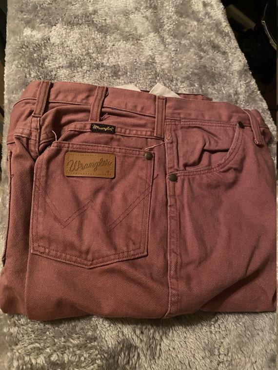 Vintage Womens Wrangler Jeans Mauve , Western Wra… - image 1