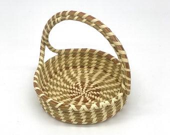 Mini Handled Sweetgrass Basket