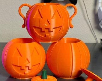 Pumpkin Jack-O'-Lantern Can Holder 3D Printed