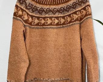 Hand-Made VINTAGE Alpaca Blend Wool Sweater