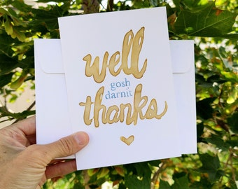 BreastCardEver: Thank You Greeting Card // Funny clean cards // Bulk pack lot generic greeting cards friends, family, neighbor, job offer