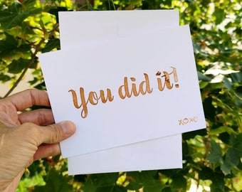 BreastCardEver: You Did It Greeting Card // Bulk pack lot generic cards // Congrats, Congratulations, Proud, Friend, Encouragement