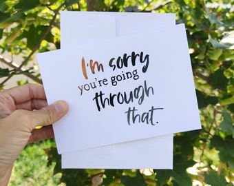 BreastCardEver: I'm Sorry Sympathy Card // Single One or Bulk Pack of Greeting Cards // ouch, pain, support