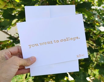 BreastCardEver: You Went to College - Greeting Cards // Funny Graduation, Envelopes. Bulk Lot Pack, graduate, masters, bachelors, associates