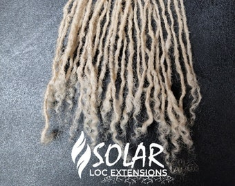Sisterlock Extensions; 1mm width , 100% human hair, hand-made, 10 LOCS/bundle