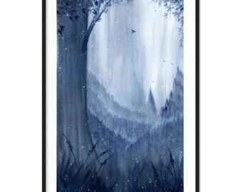 Blue Valley Poster & Frame