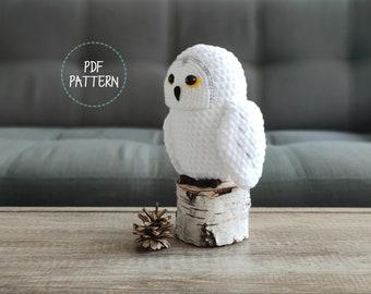 Twiggy the Snowy Owl (Amigurumi Crochet PDF PATTERN -ENGLISH)