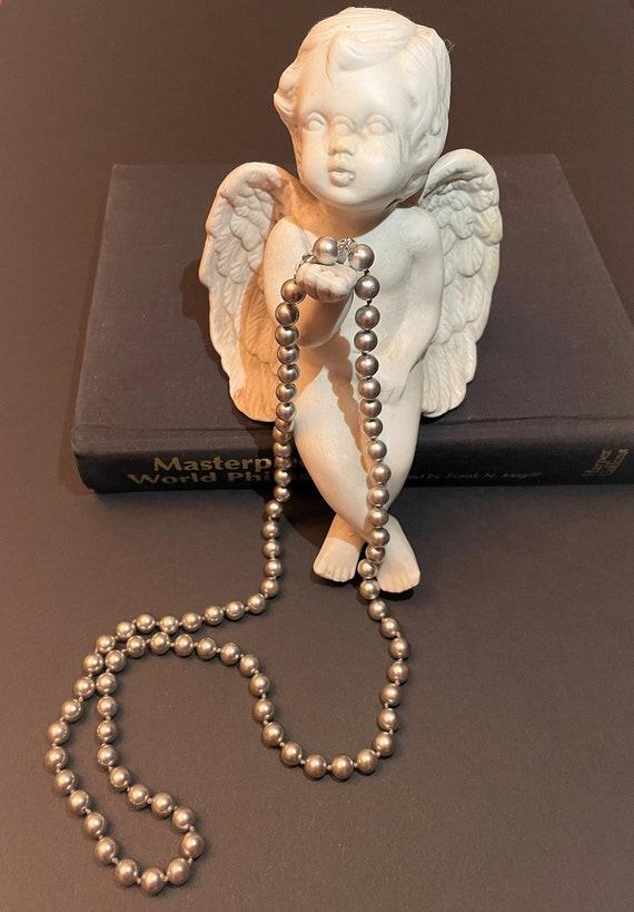 Vintage Marvella Silver Faux Pearl Necklace