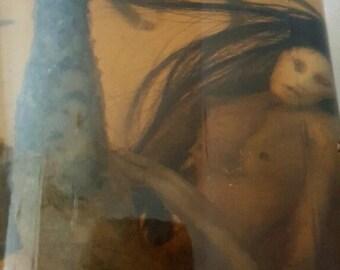 Pickled Mermaid-Preserved Mermaid-Preserved Nereidae-Gothic-Dark-Dead Mermaid-Faux Taxidermy-Oddities-Curiosity-Rarity