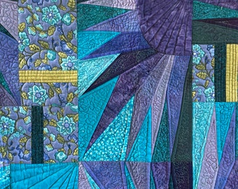 Blue Moon Custom Art Quilt