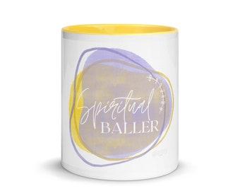 Spiritual baller yellow mug