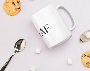 Zen AF glossy white mug