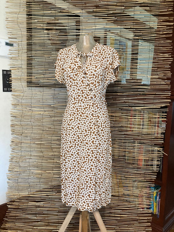1940s rayon dress, AS IS - image 1