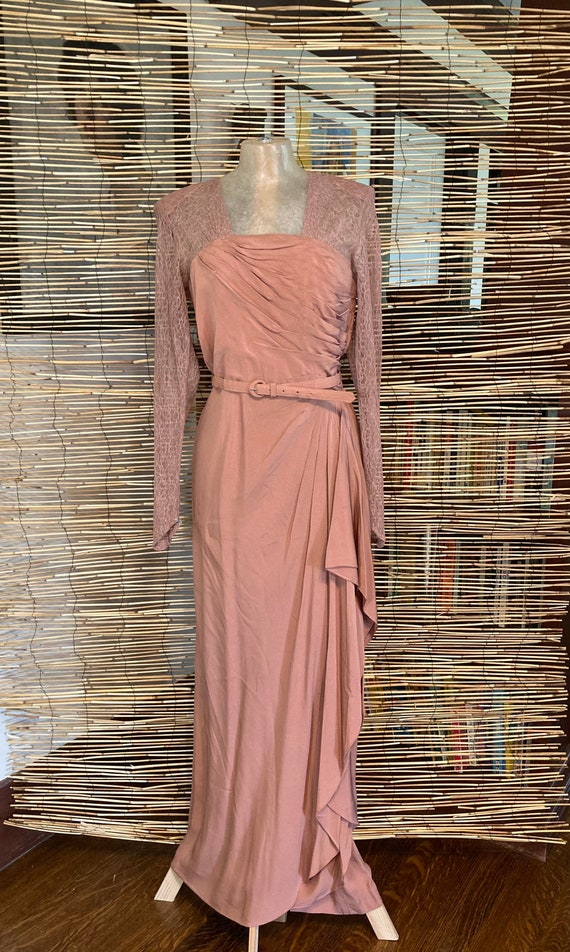 1940s pink gown