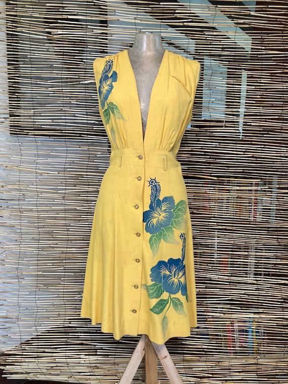 1940s Hawaiian jumper dress - image 1