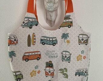"Trendy cape / beach bag ""VW Bulli"""