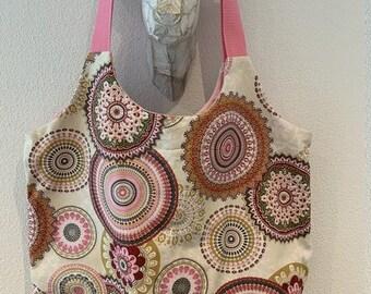 "Trendy Cape / Beach Bag ""Pink Mandala"""