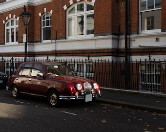 Dark red vintage Car - Wall Art, Decor, Print - Digital download Photography
