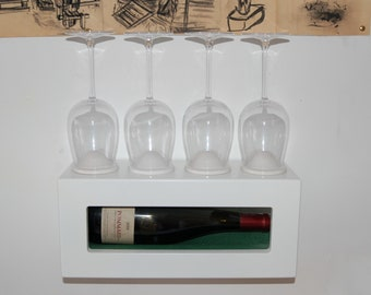 wall-mounted wine display